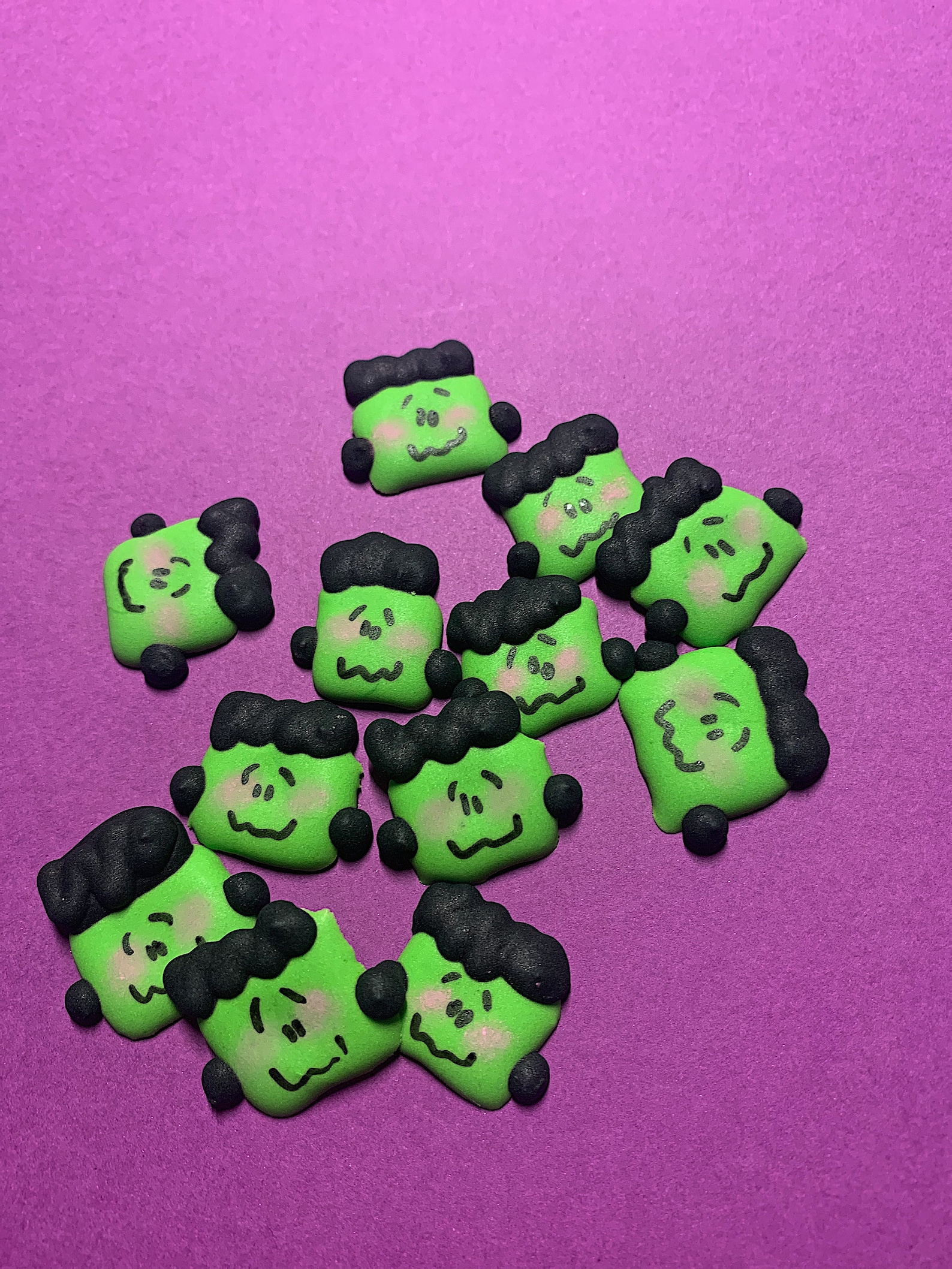 Frankenstein Icing Toppers