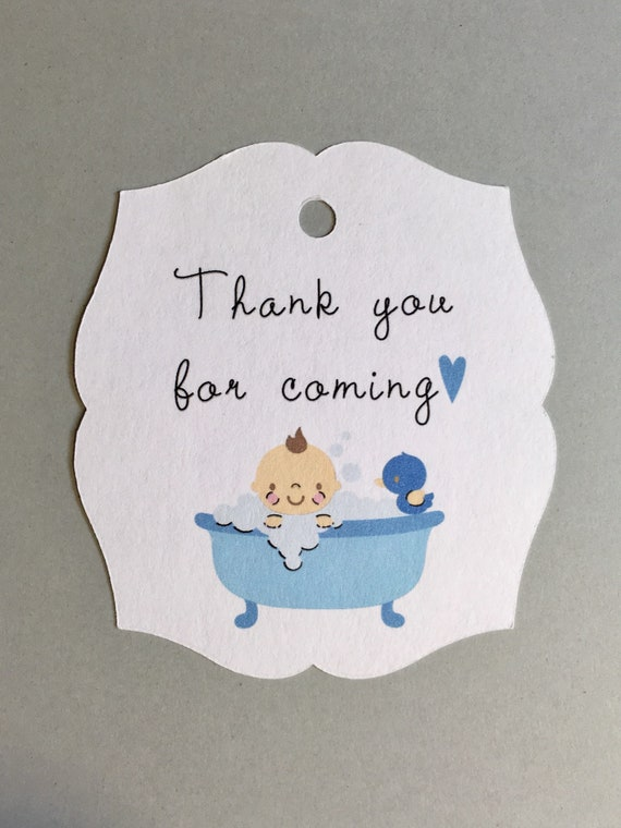 Baby Shower Tags Baby Shower Favor Tags 12 Tags Thank You Etsy