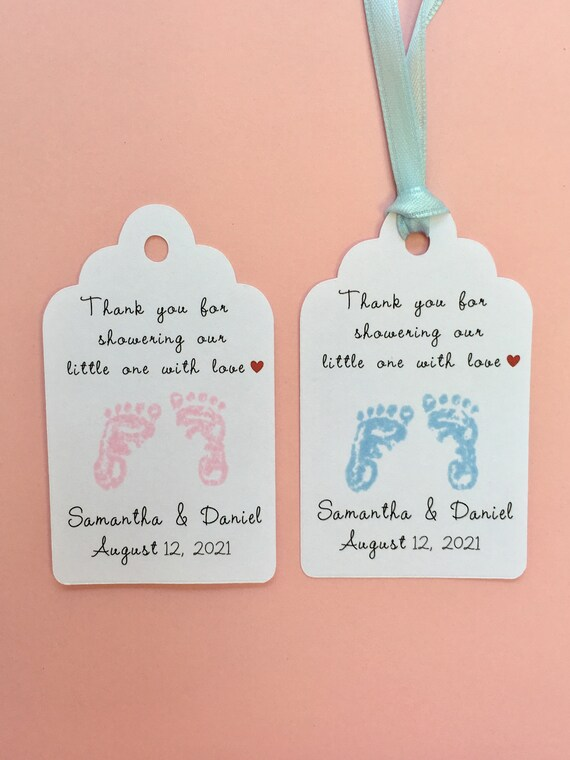 Personalized Baby Shower Tags Baby Shower Favors Custom Name Etsy