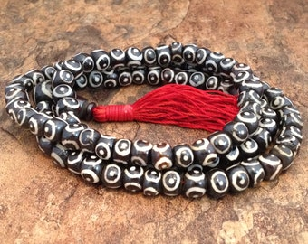 Tibetan Bone Mala Buddhist Prayer Beads 26 Inch 104208