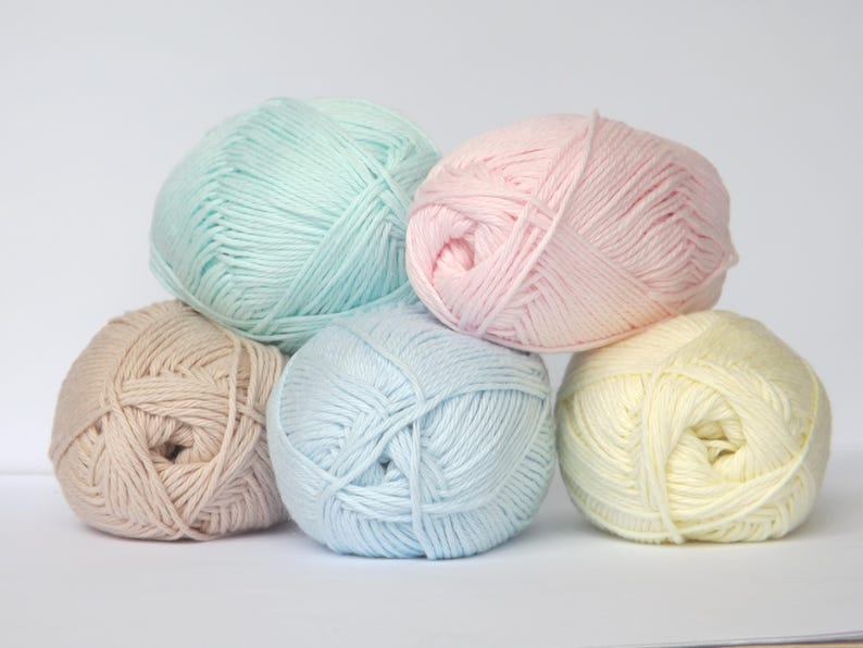 Cotton Yarn  Knitting Yarn  Light  Blue Color Perfect for image 0