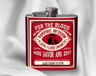 SALE! Vampire Blood Infusion Flask - Alcohol - Liquor - Stainless Steel - 6 oz.-  - Cyber Monday