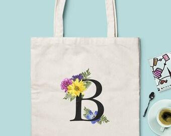 ae0996319212 Bridesmaid Gift Bags - Bridesmaid Tote Bags - Monogram Tote Bags - Choose  between 2 Models