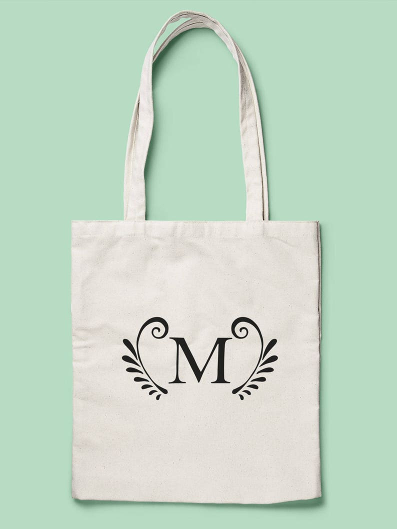 989ae00e8 Stylised Monogram Tote Alphabet Bag Initial Tote Choose | Etsy