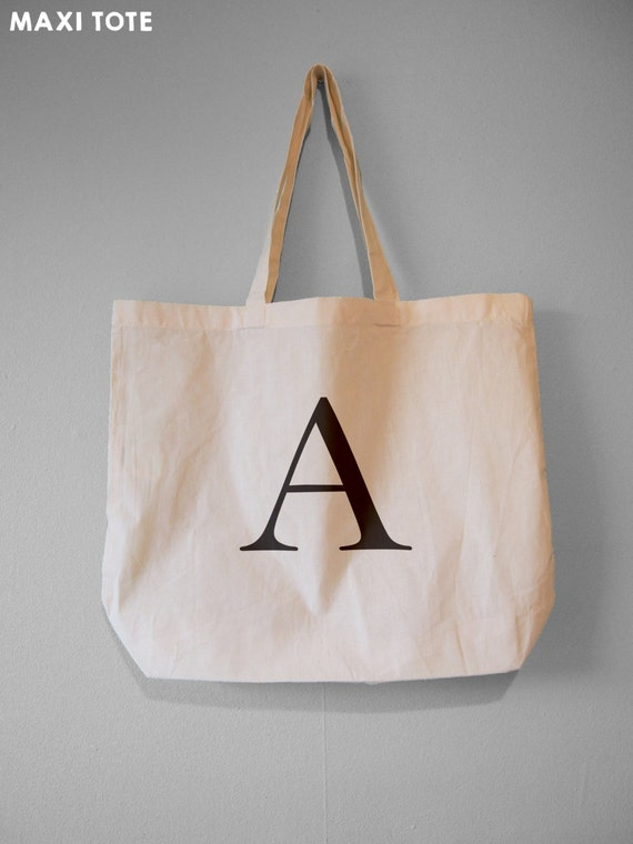 Personalised Alphabet Tote Bag Any Letter Tote Bags Personalised Custom Printed Tote Bag Xmas Gift Personalised Black Tote Bag