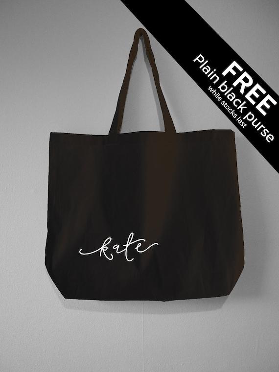 e67b79639c9f Personalised Tote Bag FREE PURSE Custom Name Bag