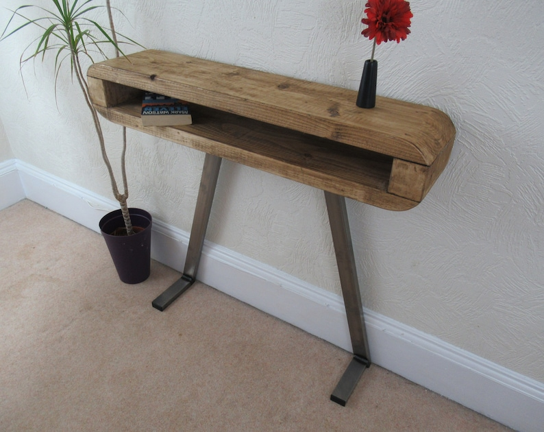 Side Table, Slim Retro Hallway Table, Console Table Industrial Style,
