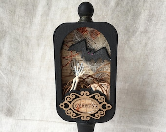 Halloween, Skeleton, Altered Altoid Tin, Creepy, Assemblage Art, 3D Art