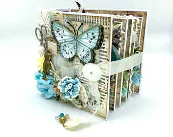 Seamstress Album, Mini Book, Sewing Album, Keepsake Mini Book