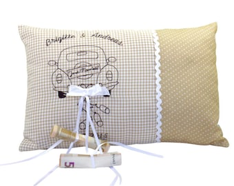 Wedding Pillow Small with name and date individualized
