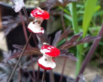 Tiny glass Apple Core plant decoration