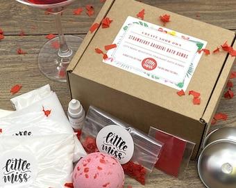 Create Your Own Handmade Strawberry Daiquiri Cocktail Bath Bombs
