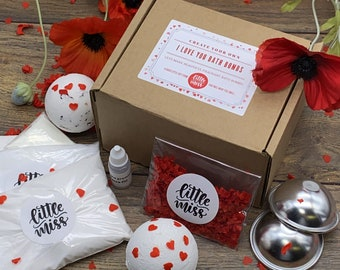 Create Your Own Handmade I Love You Valentines Champagne Bath Bombs