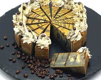 Handmade Artisan Coffee Cheesecake Soap Bar