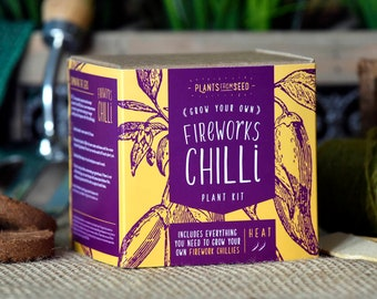 CHRISTMAS SALE!!! - ECO Grow Your Own Fireworks Chilli Plant Kit