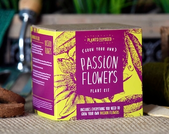 SALE!!! - ECO Grow Your Own Passion Flowers Plant Kit