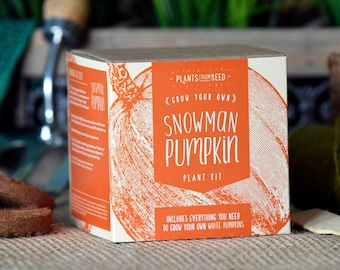 CHRISTMAS SALE!!! - ECO Grow Your Own Snowman Pumpkin Plant Kit