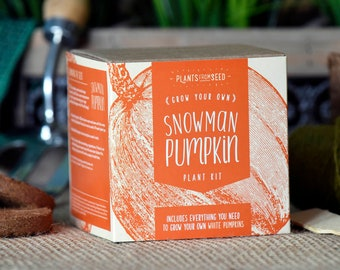 SALE!!! - ECO Grow Your Own Snowman Pumpkin Plant Kit