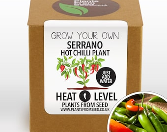 SALE!!! - Grow Your Own Serrano Chilli Plant Kit