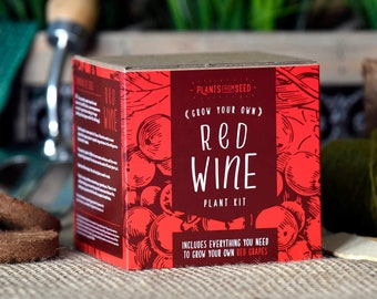 CHRISTMAS SALE!!! - ECO Grow Your Own Red Grape Vine Plant Kit