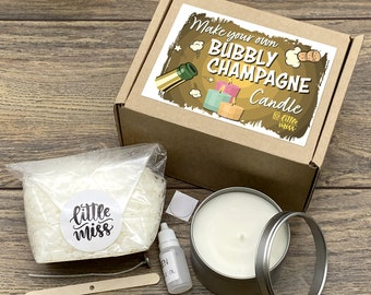 Little Miss Make Your Own Bubbly Champagne Candle kit