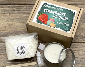 Little Miss Make Your Own Strawberry Daiquiri Cocktail Candle kit