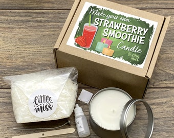 Little Miss Make Your Own Strawberry Smoothie Candle kit