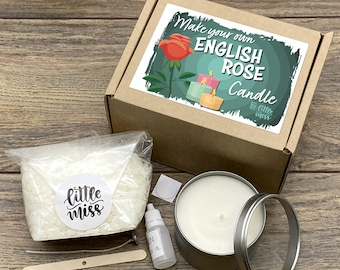 Little Miss Make Your Own English Rose Candle kit
