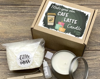 Little Miss Make Your Own Café latte Candle kit