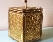Lovely Old Brass Tea Caddy