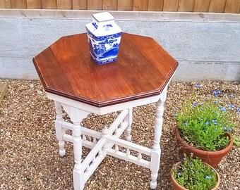 Upcycled Edwardian Hexagonal Table