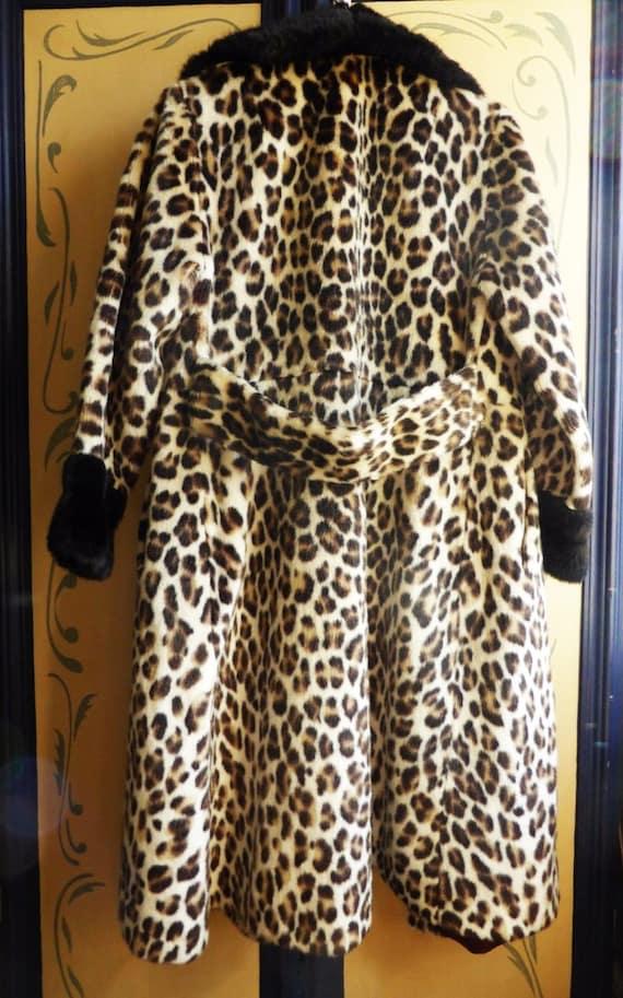 by Leopard Glamourous Print 1960s Katmandu' Coat Fur 'Lister Faux 17WUqY