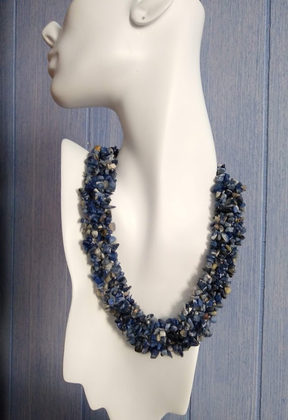 Chip Necklace Small Sodalite
