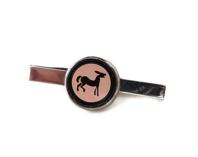 Donkey Tie Bar - Vintage Silver Tone Men's Tie Bar, Suit Accessory