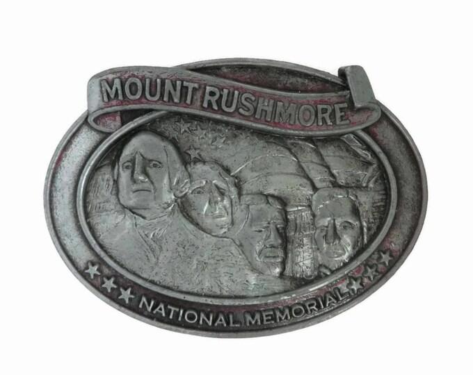 Mount Rushmore Belt Buckle - Vintage Inscribed Buckle, Men's Accessory