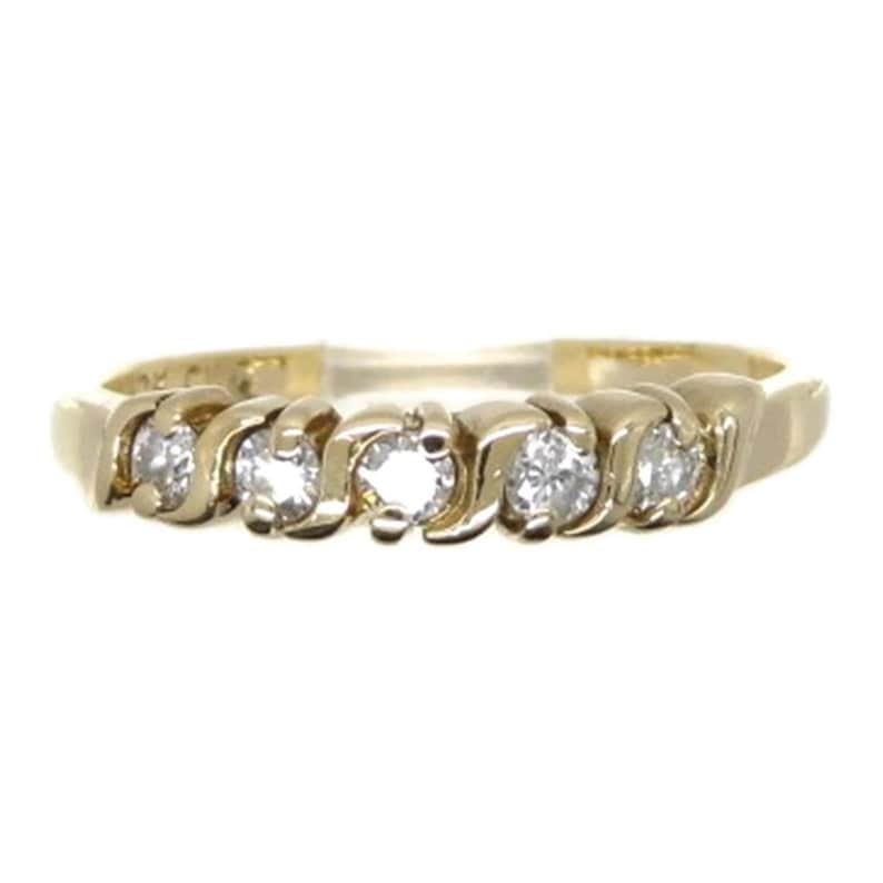 a00de2f305318 Diamond Wedding Ring, Vintage 10K Yellow Gold, .25ctw, Solid Gold Ring,  Size 6