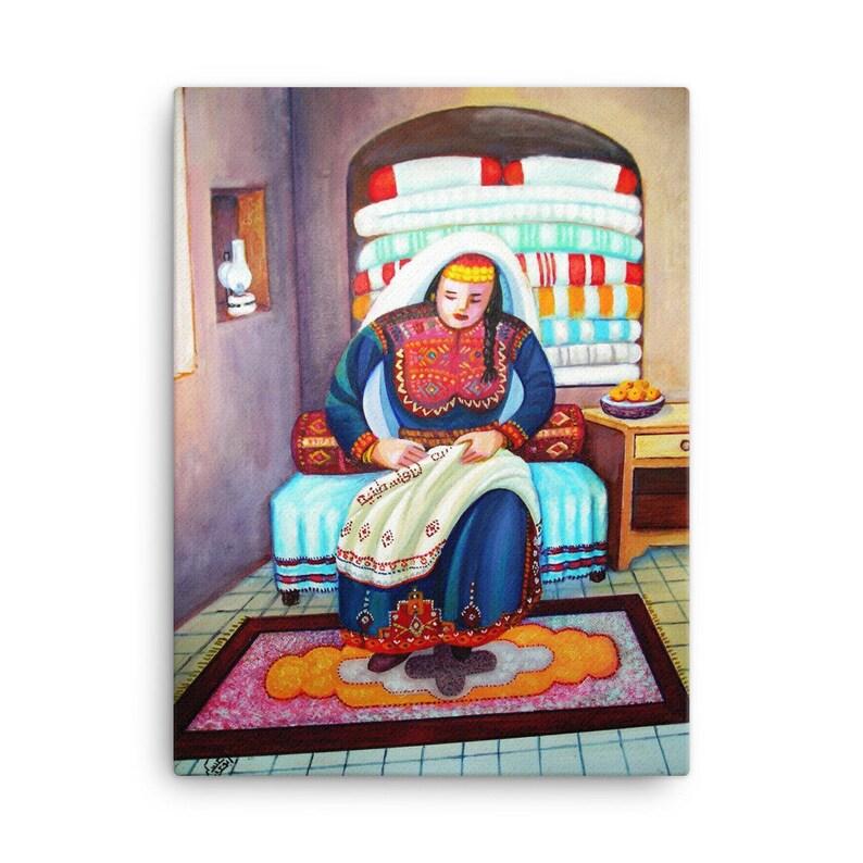Canvas Print Arab Art Middle Eastern Art Embroidery