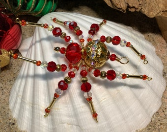 holiday ornament,Valentines Gift Gift for her Granny Lace,Christmas ornament Christmas spider lace spider Holiday spider Sue DeYoung,