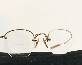 0e3c3c914ad87 Octagon Shaped Gold Filled Spectacles - Eye Glasses
