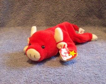 Ty Snort the Red Bull Beanie Baby dbc98bada364