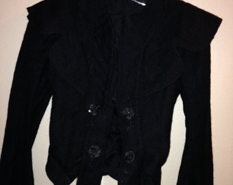 Vintage Edwardian Wool Jacket- 1900s Black