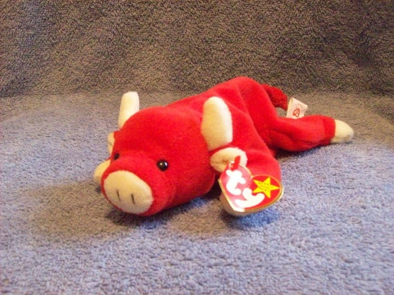 Ty Snort the Red Bull Beanie Baby  7ece1f1cc6d