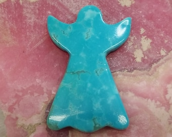 Blue Sonora Turquoise Medium Angel Cabochon/ backed/