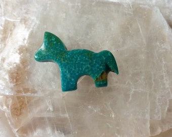 Green Sonora Turquoise Medium Horse/Pony Cabochon/backed/
