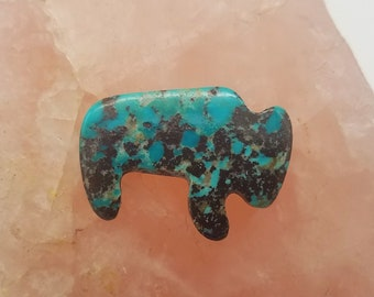 Blue Green Bisbee Turquoise Medium American Buffalo Bison Cabochon/ backed