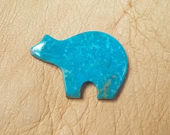 Large Sonora Turquoise Bear Cabochon/ backed