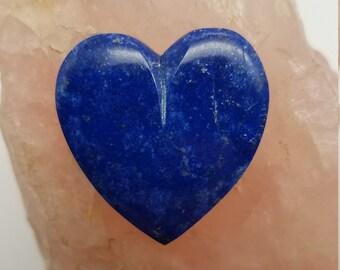 Dark Blue Lapis Lazuli Large Heart Cabochon/ backed