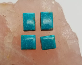 Blue Green Small Rectangle & Square Cabochons/ backed