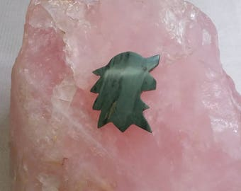 Green Picasso Marble Direwolf Cabochon/ backed
