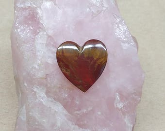 35% OFF Medium Blood Onyx Heart Cabochon/ backed/ seconds